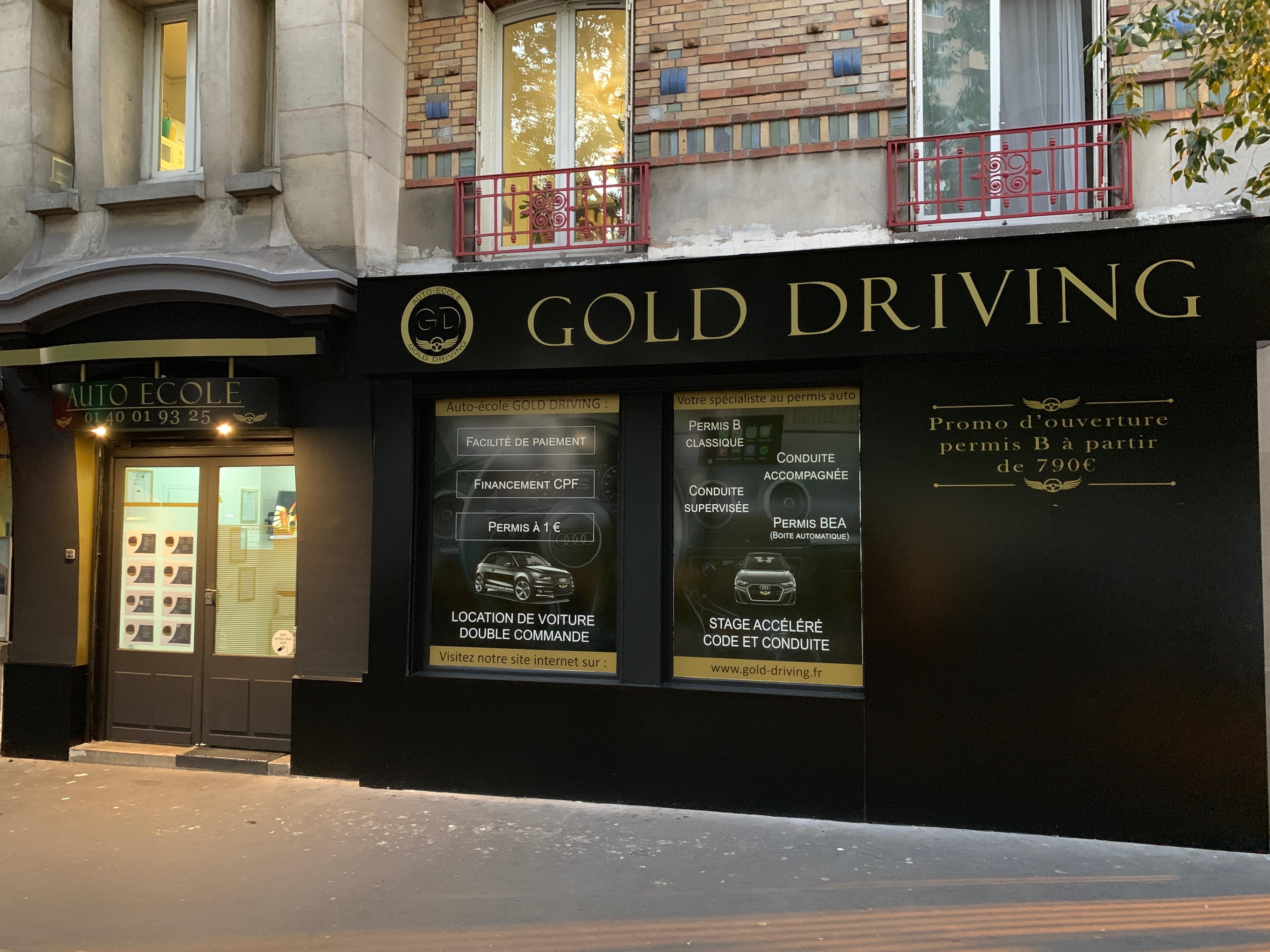 Façade exterieure 2 de GOLD DRIVING